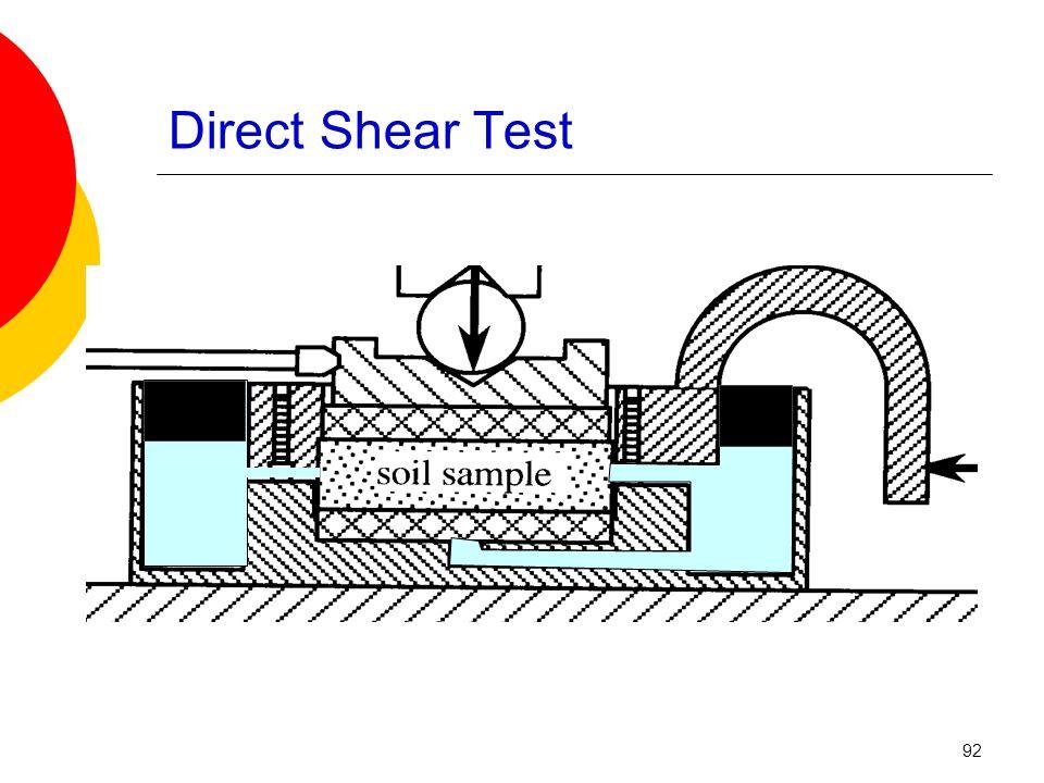 Direct Shear Test 92