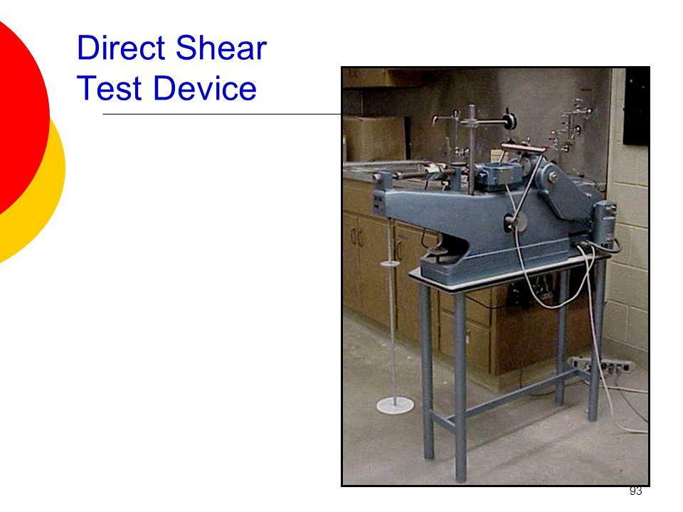 Direct Shear Test Device 93