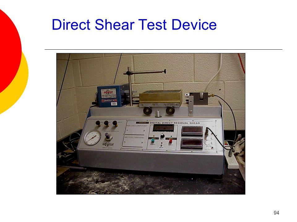 Direct Shear Test Device 94