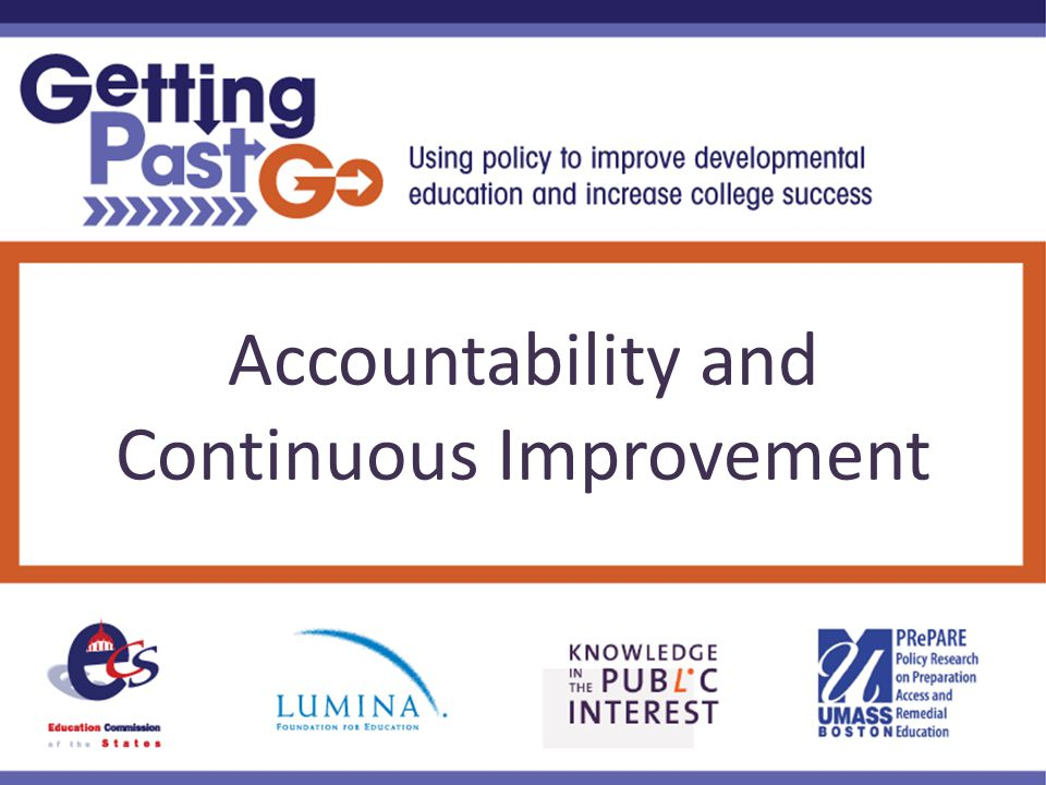Accountability and Continuous Improvement