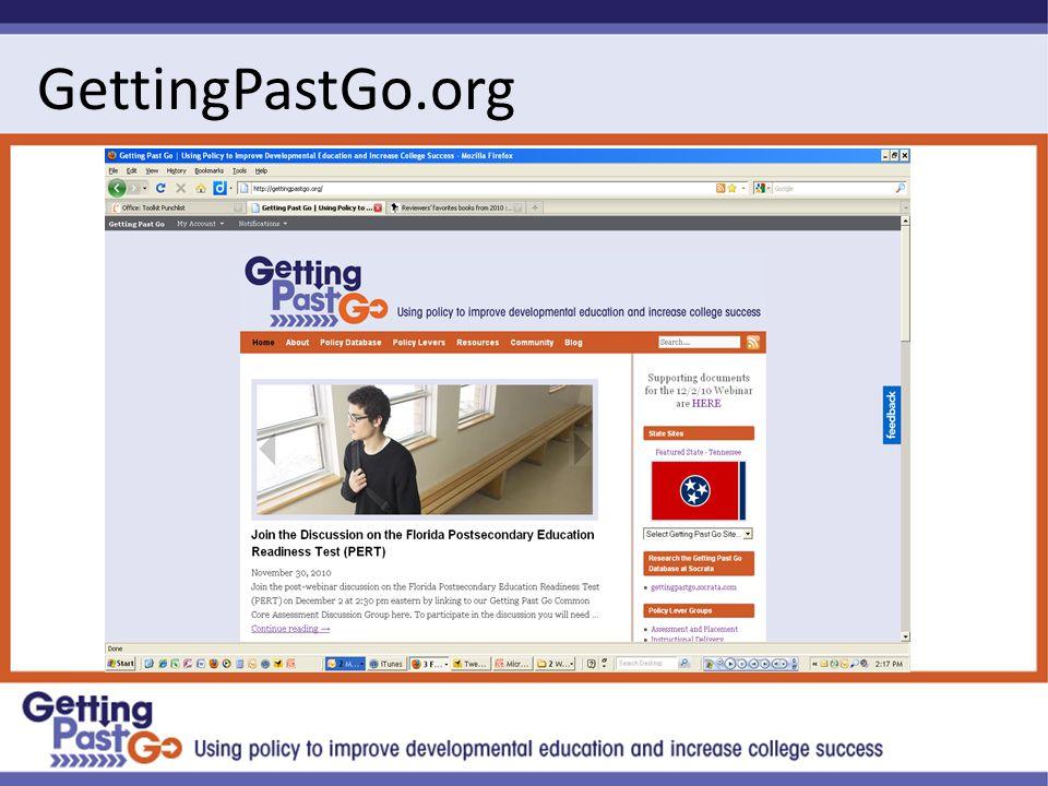 GettingPastGo.org