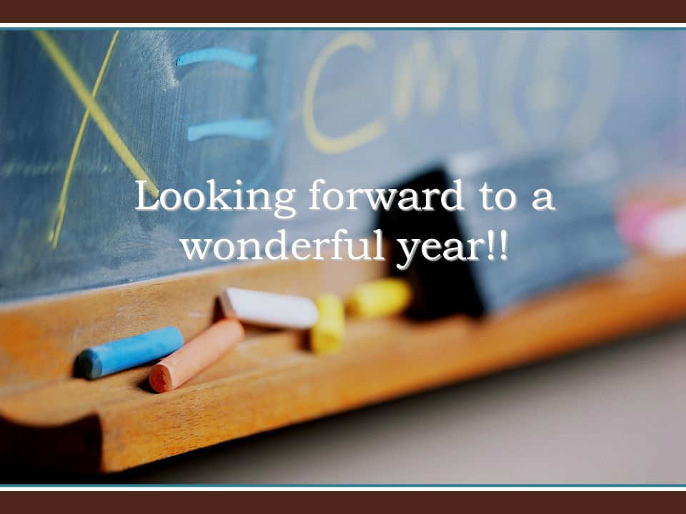 Looking forward to a wonderful year!!
