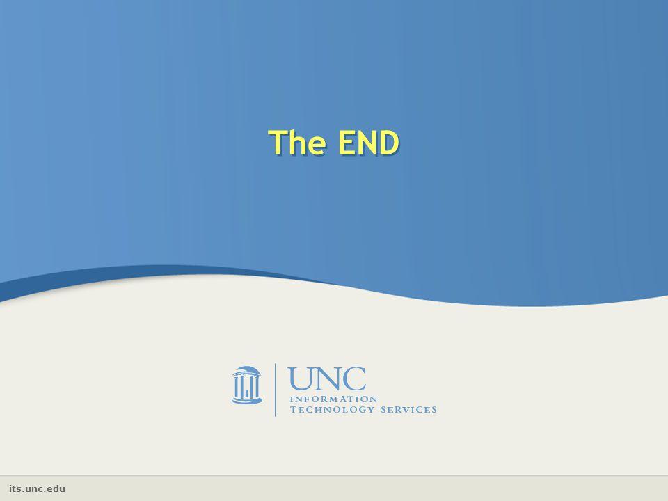 its.unc.edu The END