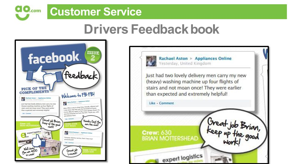 Customer Service Drivers Feedback book