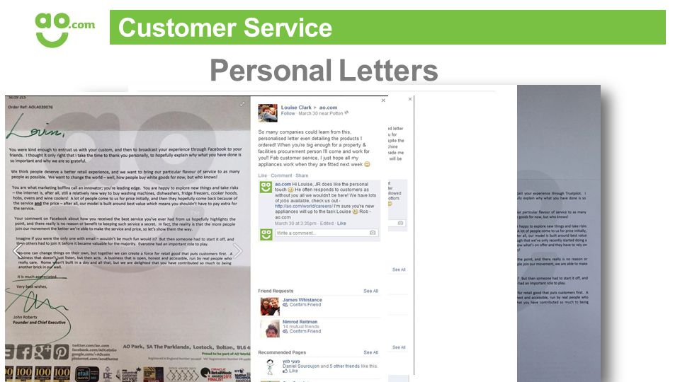 Customer Service Personal Letters