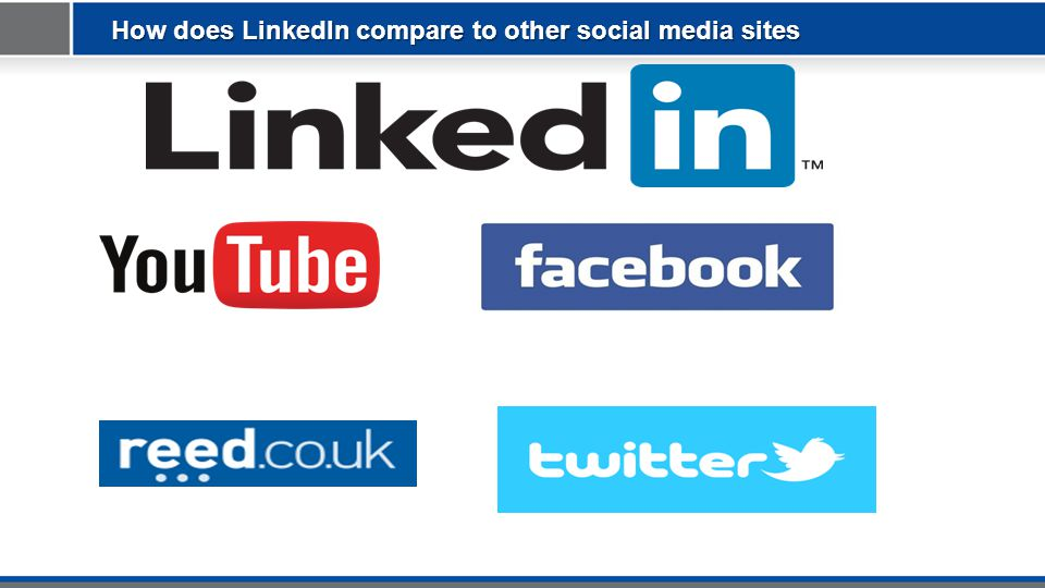 How does LinkedIn compare to other social media sites
