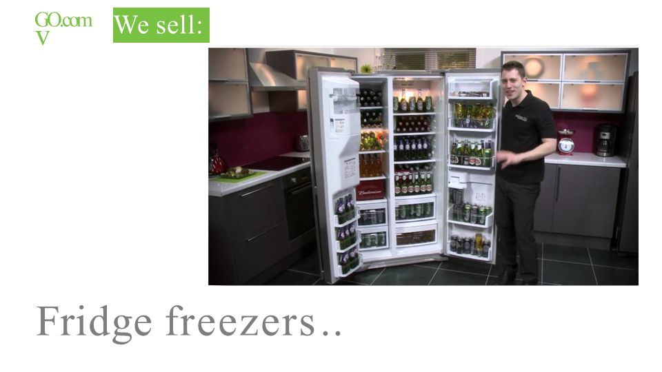 GO.com v We sell: Fridge freezers..