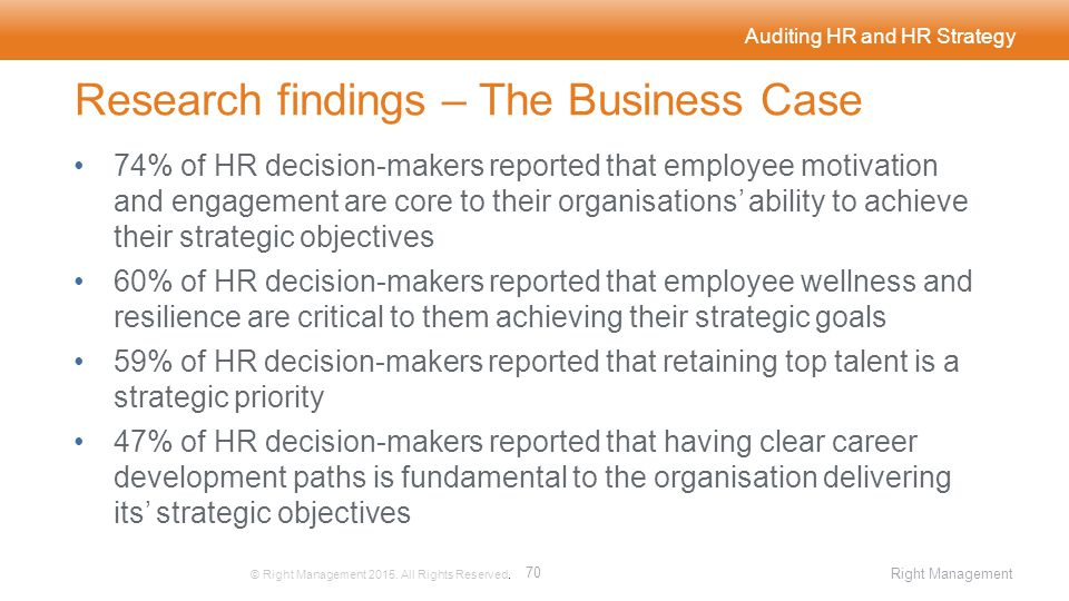Auditing HR and HR Strategy © Right Management 2015.