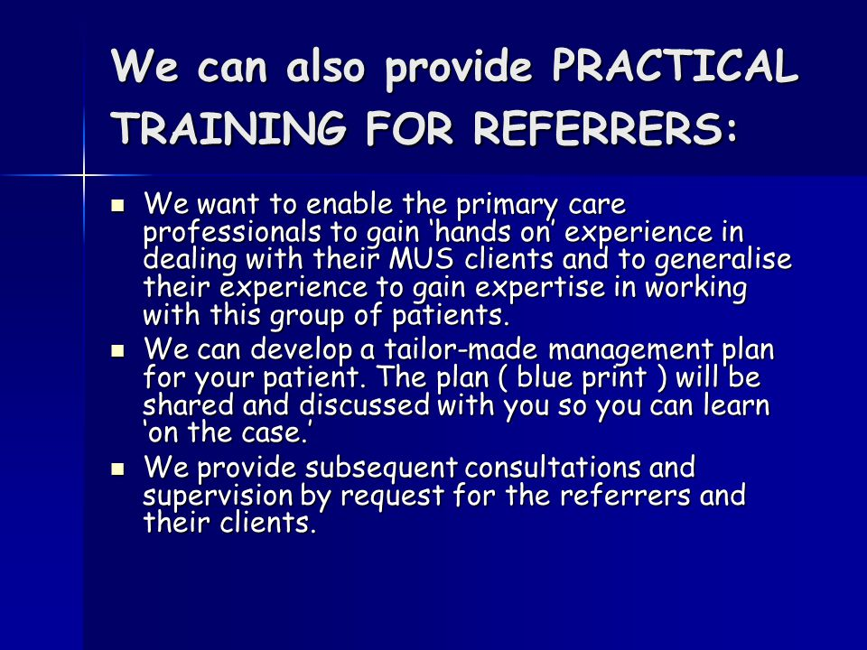 How to refer: Through your usual IAPT route, please indicate that the referral is for MUS Through your usual IAPT route, please indicate that the referral is for MUS Or directly to Dr Jacek Kolsut / Hildah Jiah on Or directly to Dr Jacek Kolsut / Hildah Jiah on Tel 01442 275 460 Fax 01442 275496 Tel 01442 275 460 Fax 01442 275496 ( please speak to Alexis Williams, team secretary and tell her that your call/fax is for MUS as we share the office with Early Intervention in Psychosis ) ( please speak to Alexis Williams, team secretary and tell her that your call/fax is for MUS as we share the office with Early Intervention in Psychosis ) Jacek.kolsut@hertspartsft.nhs.uk Hildah.Jiah@hertspartsft.nhs.uk Jacek.kolsut@hertspartsft.nhs.uk Hildah.Jiah@hertspartsft.nhs.uk Jacek.kolsut@hertspartsft.nhs.uk Hildah.Jiah@hertspartsft.nhs.uk Jacek.kolsut@hertspartsft.nhs.uk Hildah.Jiah@hertspartsft.nhs.uk