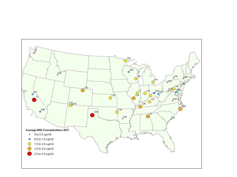 2011 Ambient NH3 Concentrations