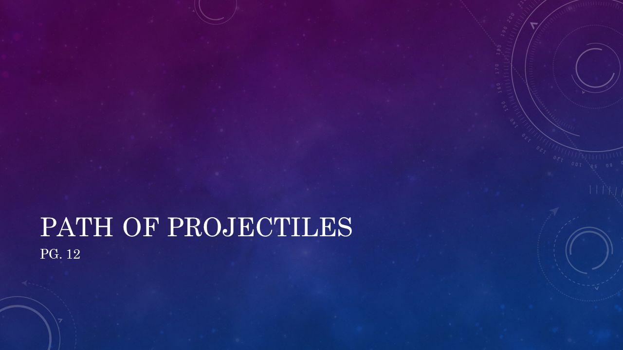 PATH OF PROJECTILES PG. 12