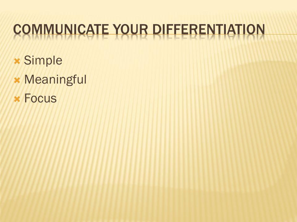  Simple  Meaningful  Focus