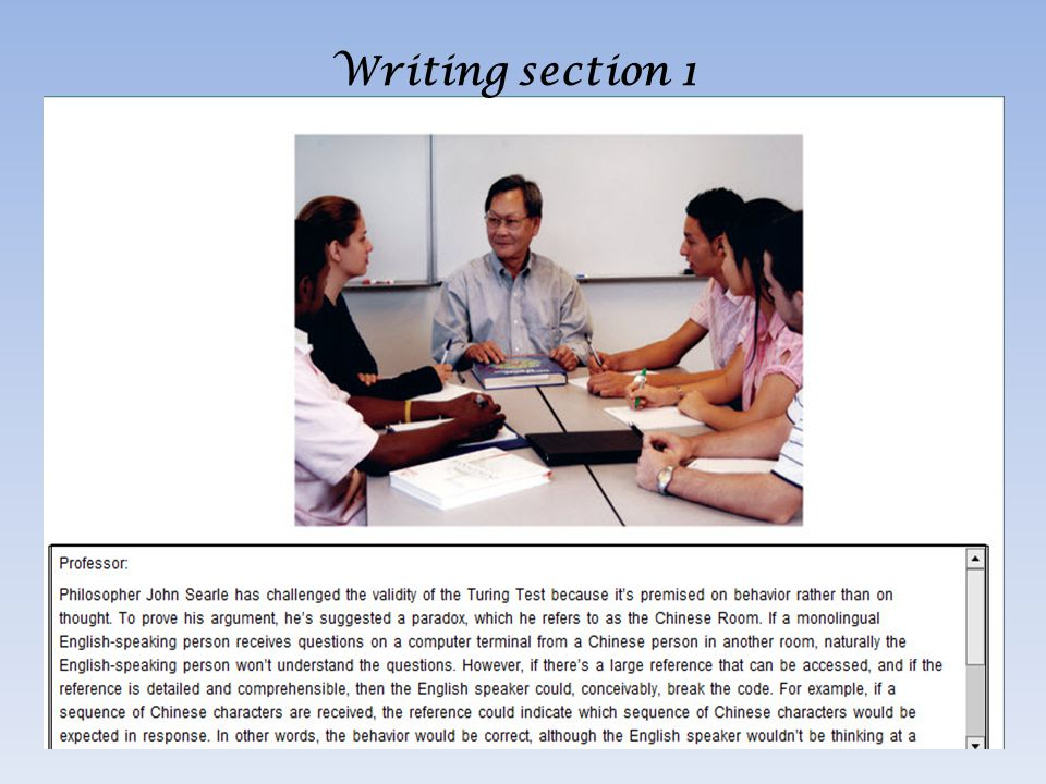 Writing section 1