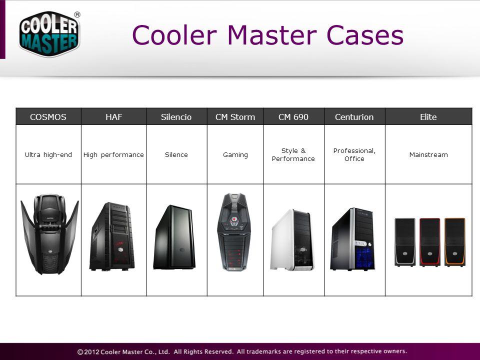 Cooler Master Cases COSMOSHAFSilencioCM StormCM 690CenturionElite Ultra high-endHigh performanceSilenceGaming Style & Performance Professional, Office