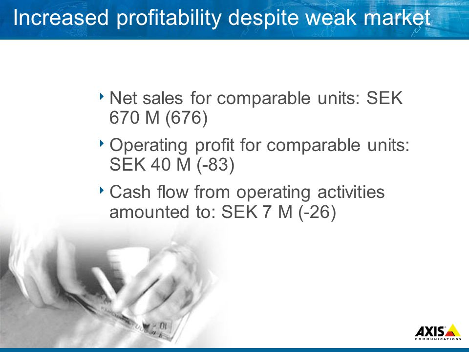Year 2002 in brief  Profitability  Cost control  Improved gross margins  Decreased sales within Print  Continuous growth for Video