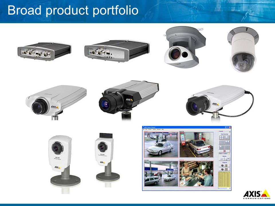 Broad product portfolio