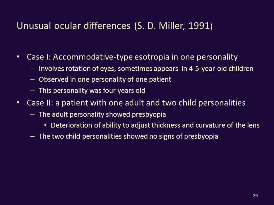 Unusual ocular differences (S. D.