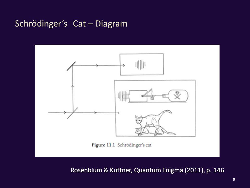 Schrödinger's Cat – Diagram 9 Rosenblum & Kuttner, Quantum Enigma (2011), p. 146
