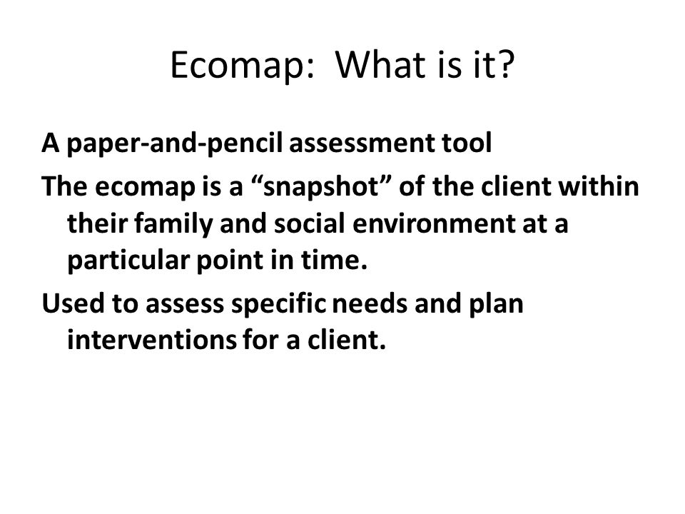 Ecomap: What is it.