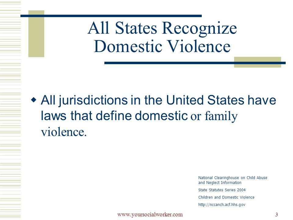 www.yoursocialworker.com14 Emotional/mental injury  All Sates and territories include emotional/mental injury as a category of maltreatment for the purpose of child abuse and neglect definitions…  All but THREE STATES…  California, Georgia, and Washington National Clearinghouse on Child Abuse and Neglect Information 2003 Child Abuse and Neglect State Statute Series Statutes-at-a-Glance Definitions of Child Abuse and Neglect http://nccanch.acf.hhs.govttp://nccanch.acf.hhs.gov