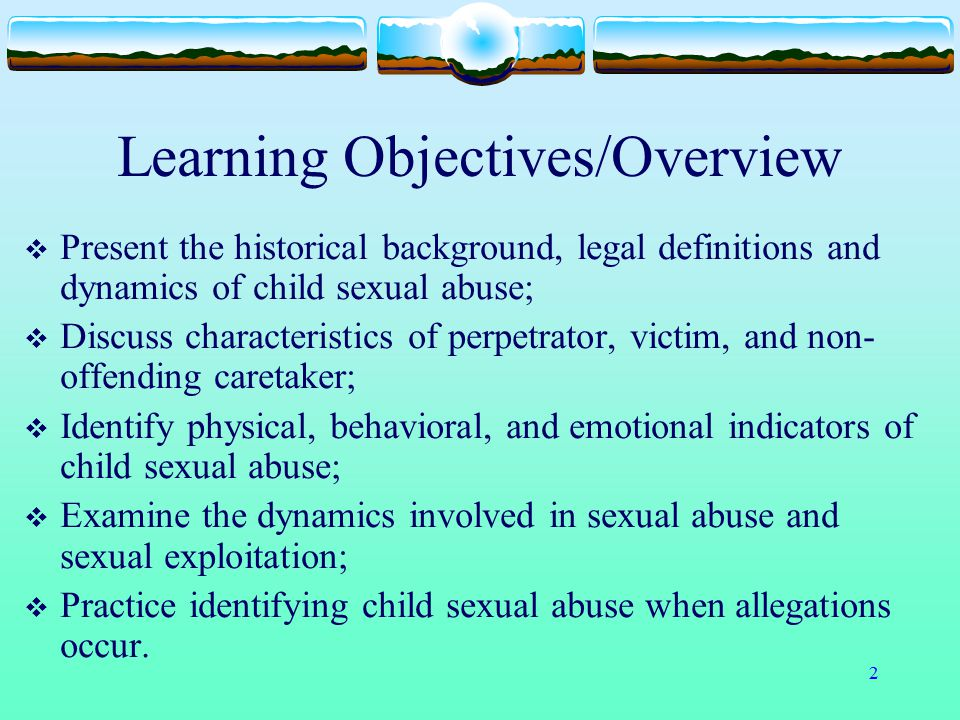 23 Cultural Aspects of Shame in Child Sexual Abuse  Responsibility for the abuse  Failure to protect  Fate  Damaged goods  Virginity  Predictions of a shameful future Promiscuity, homosexuality, sexual offending  Re-victimization  Layers of shame
