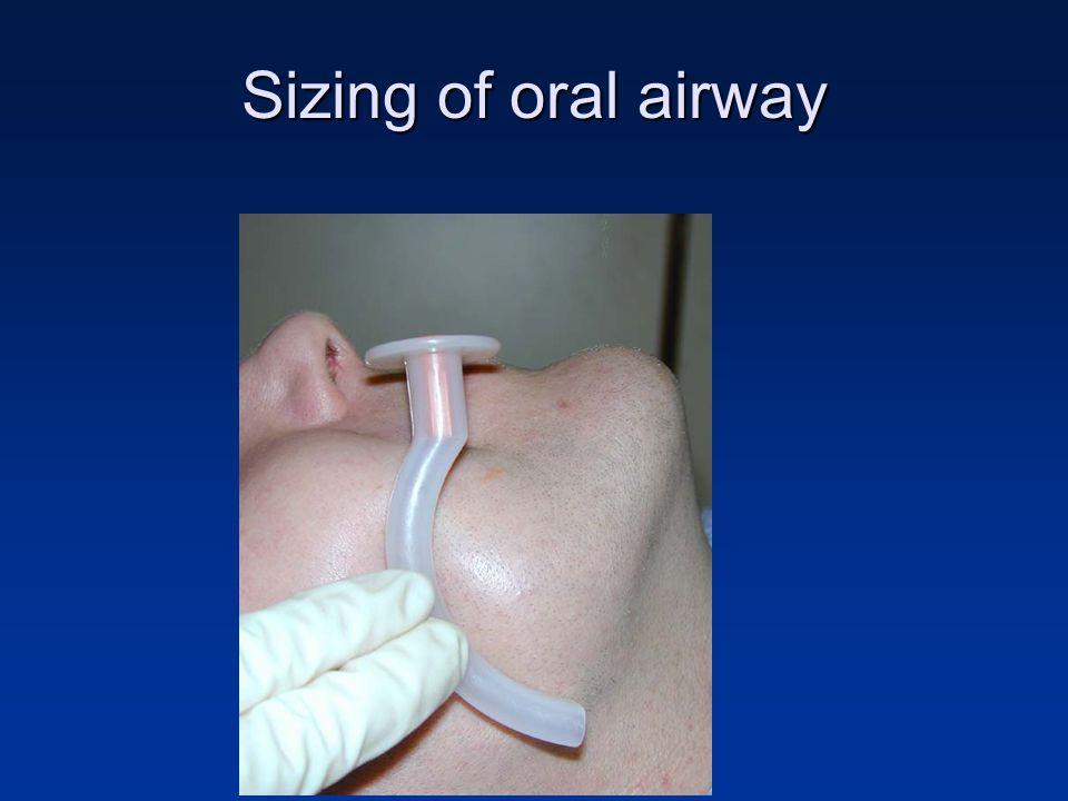 Sizing of oral airway