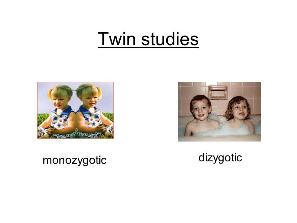 Twin studies monozygotic dizygotic