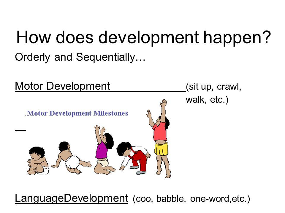 How does development happen.