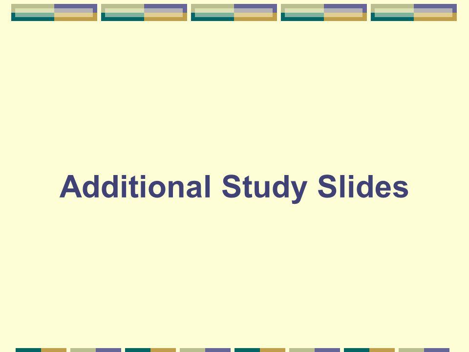 Additional Study Slides