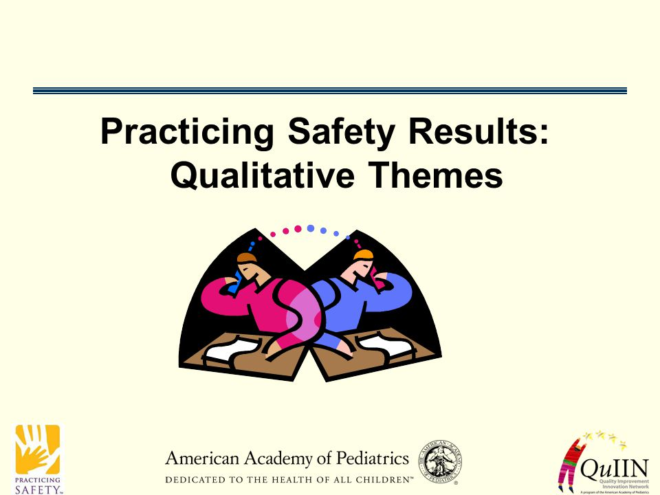 Practicing Safety Results: Qualitative Themes