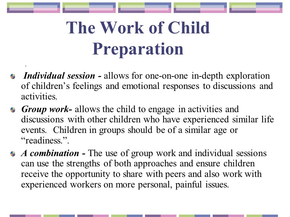 The Work of Child Preparation.