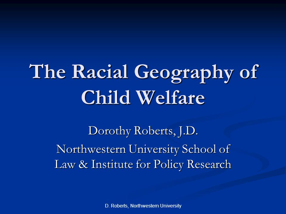 The System's Racial Geography Child welfare agency involvement concentrated in poor communities of color.