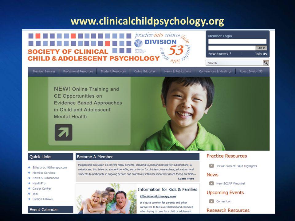 www.clinicalchildpsychology.org