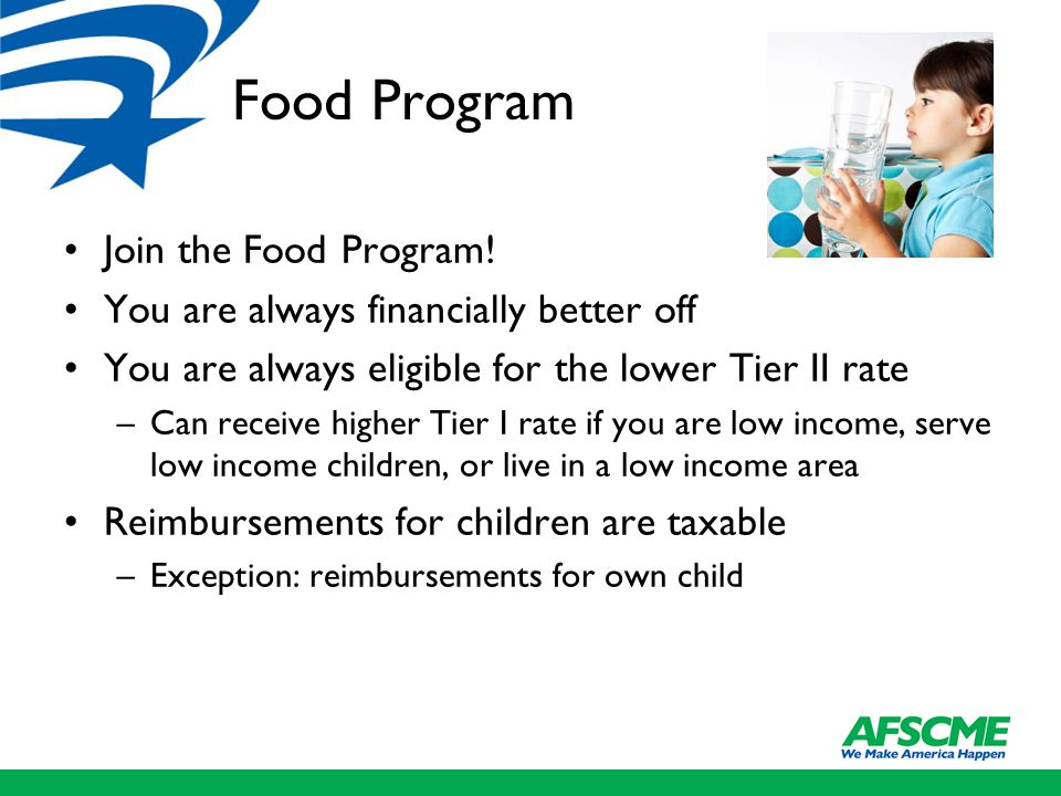 Food Program Join the Food Program.