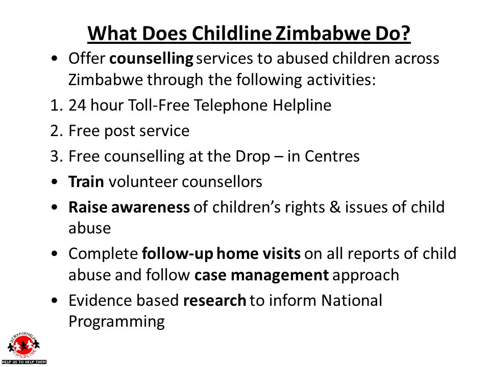 What Does Childline Zimbabwe Do.