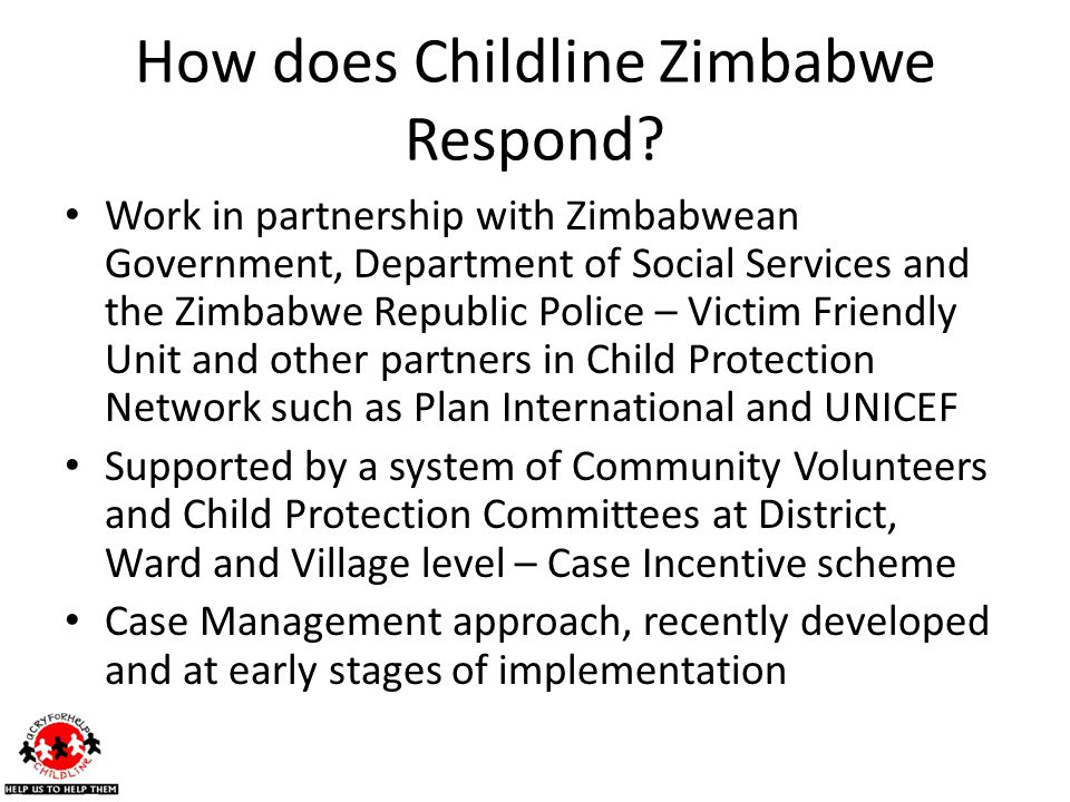 How does Childline Zimbabwe Respond.