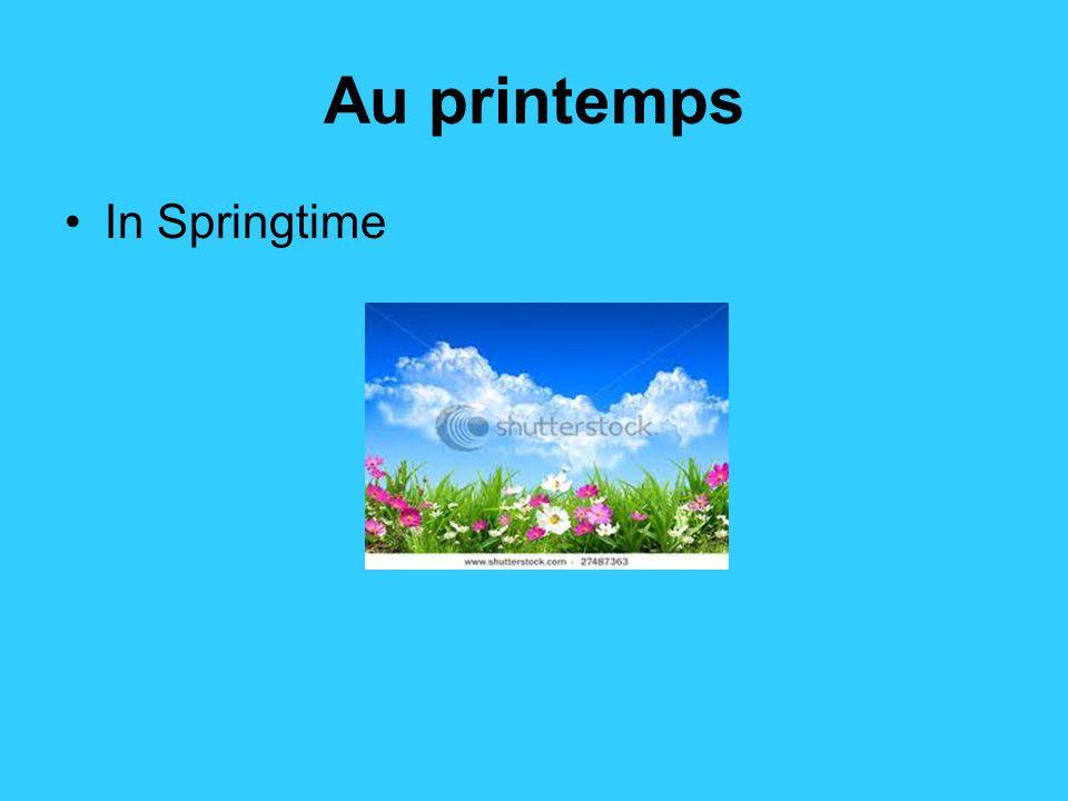 les saisons de l'année le printemps – spring l'été - summer l'automne – fall (autumn) l'hiver – winter