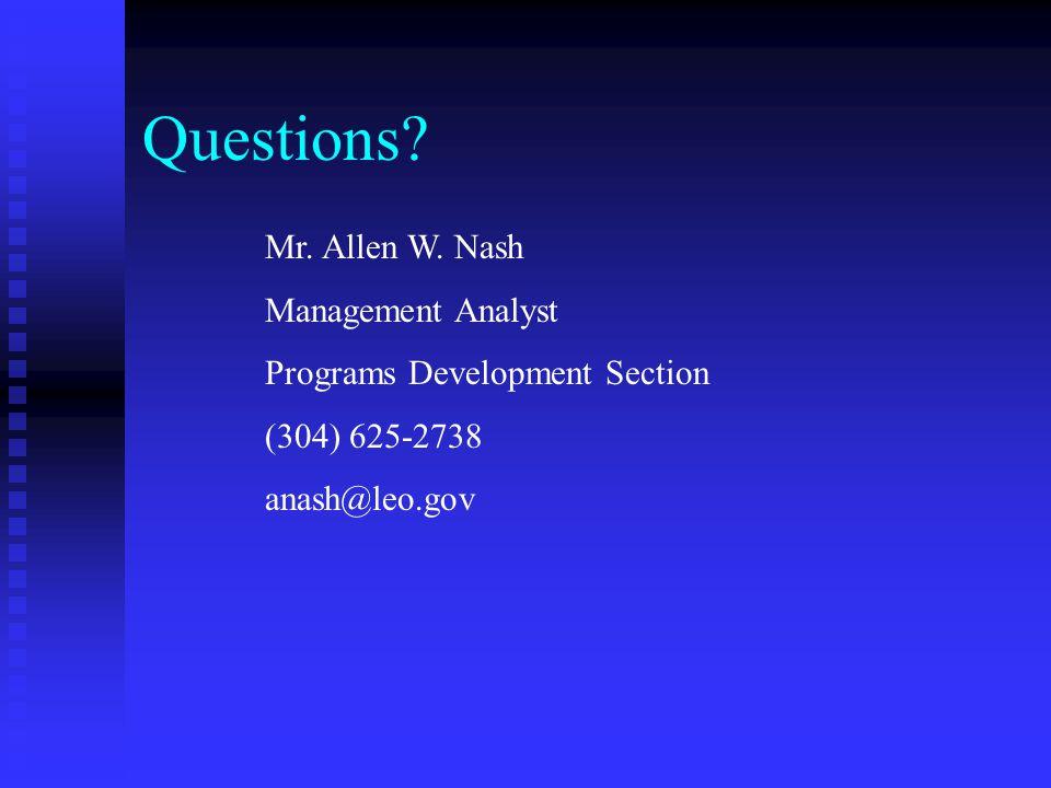 Questions. Mr. Allen W.