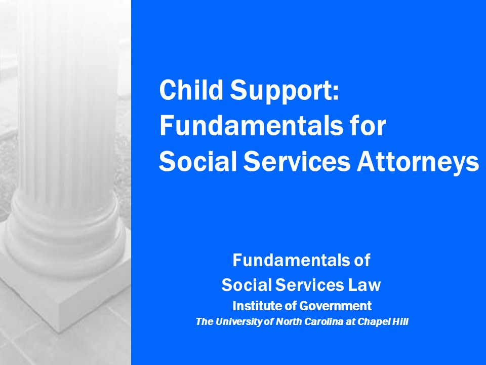 Institute of Government, UNC-Chapel Hill © 200412 Modifying Child Support Orders GS 50-13.7 Two-step process Changed circumstances Since order entered Amount of new order Guidelines (deviate) Registered order Vested arrearages Not modifiable Per issuing state's law GS 50-13.10 Can't retroactively modify Due before motion filed Exceptions Disability Indigency Misrepresentation Incarceration Compelling reason