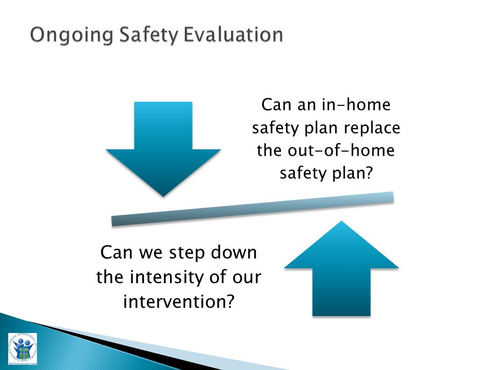 Can an in-home safety plan replace the out-of-home safety plan.