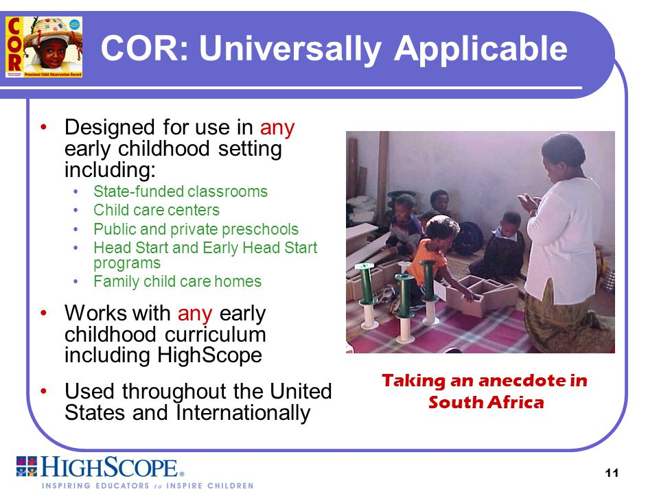 10 COR: User-Friendly Presented in clear, easy-to-understand language, no technical jargon Does not require a specialized degree to use Works within a
