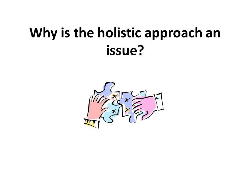 Why is the holistic approach an issue?