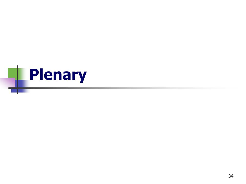 34 Plenary