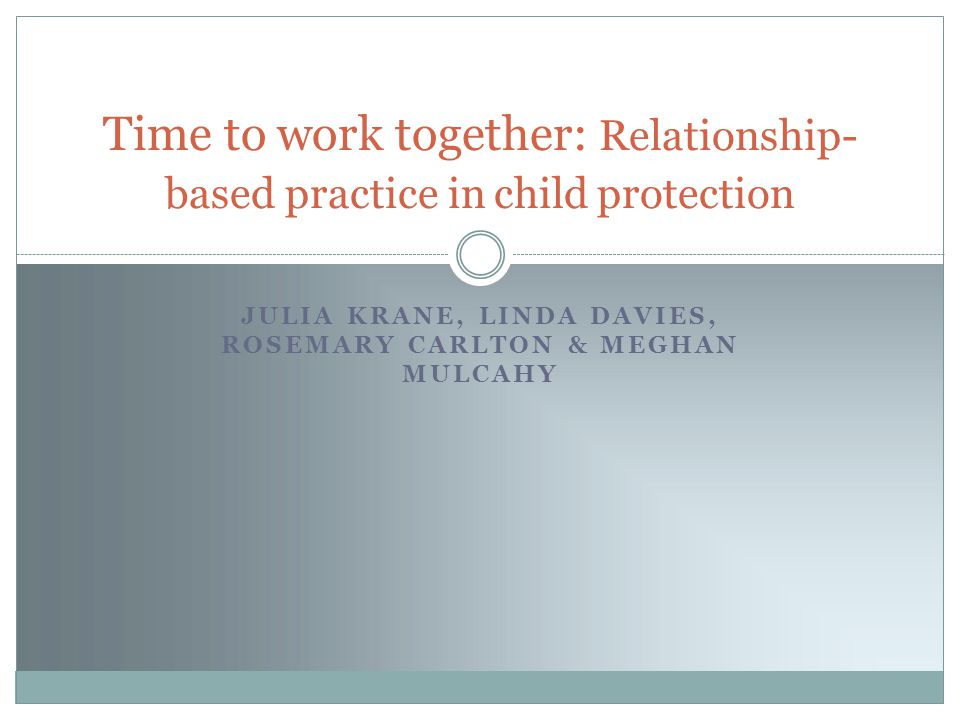 Our presentation asks how might we begin to develop practice that supports therapeutic engagement with parents embroiled in child protection?