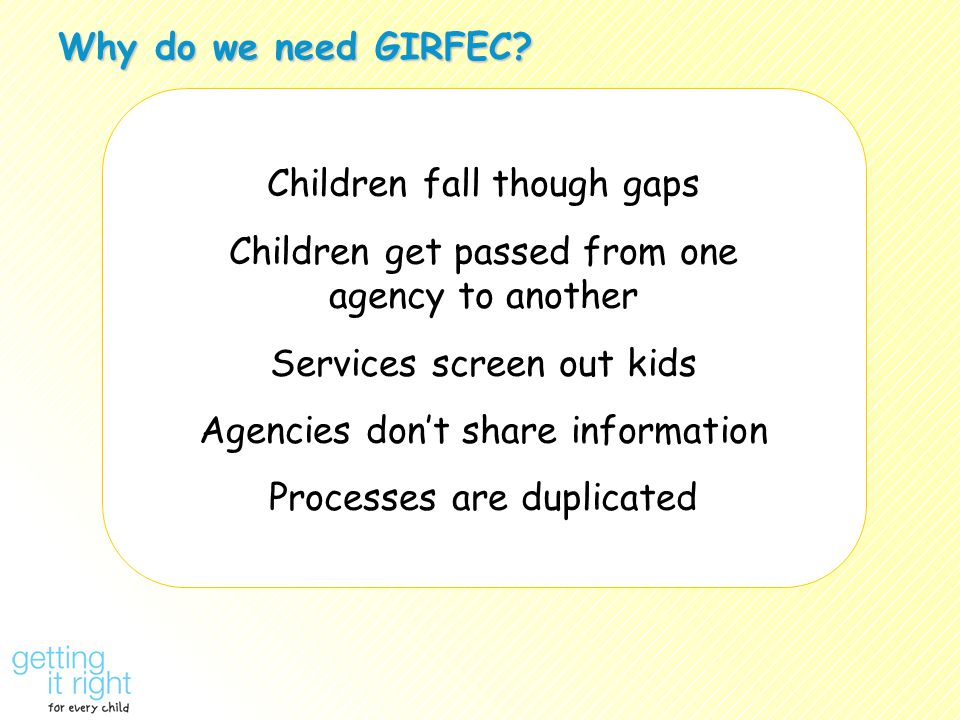 Why do we need GIRFEC.