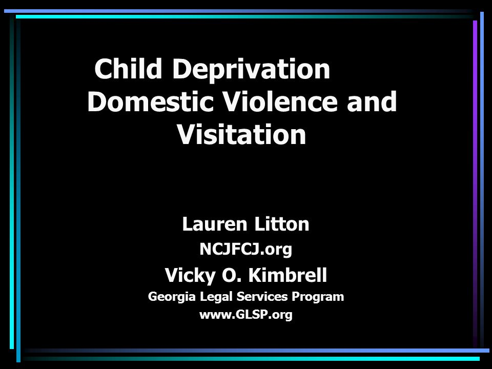 2 Ways in Which Co-Occurrence May Become Evident 1)Domestic violence was the underlying factor that brought the family to the system's attention and led to the abuse or neglect of the child.