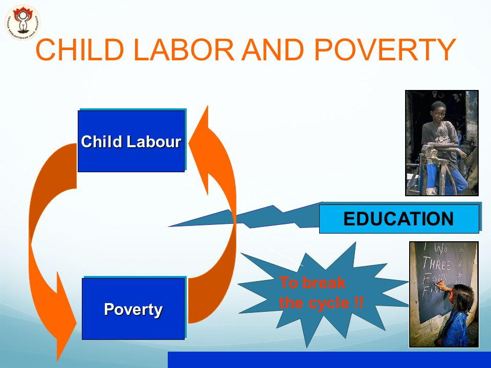 CHILD LABOR AND POVERTY Child Labour PovertyPoverty EDUCATION To break the cycle !!