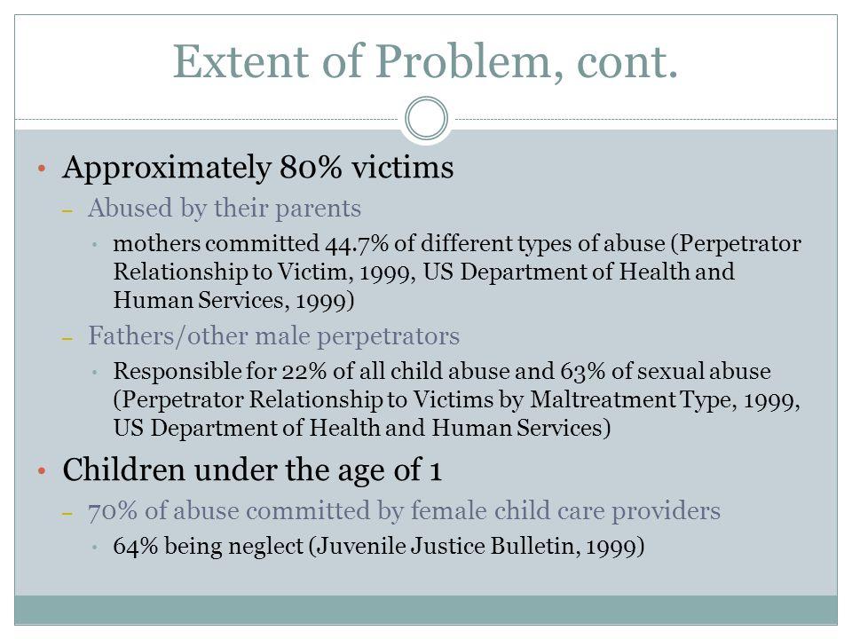 Child Abuse Risk Factors, cont.
