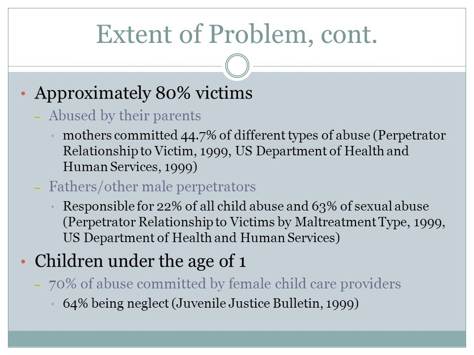 Extent of Problem, cont.