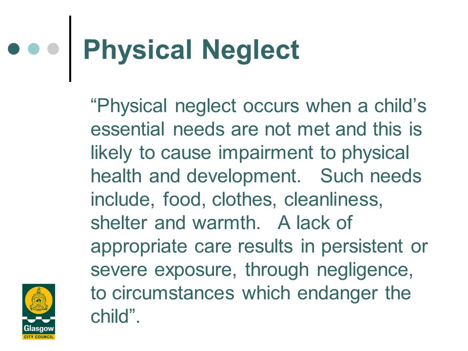 Physical Injury Sexual Abuse Emotional Abuse Failure to Thrive Physical Neglect Child Protection Categories of Registration